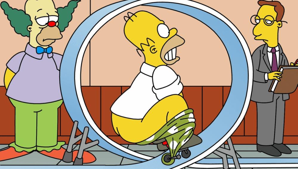 Homer Publicidad Escuela Payasos