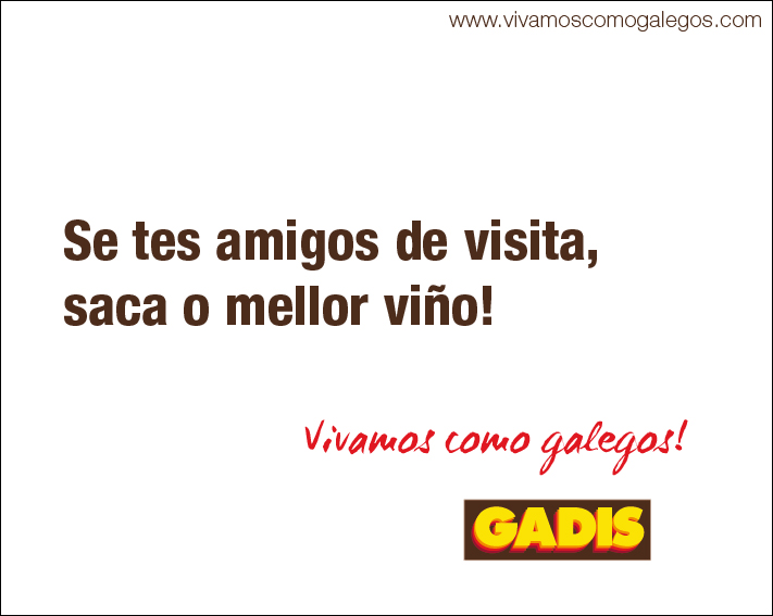 Valla publicitaria Vivamos como Galegos - Gadis