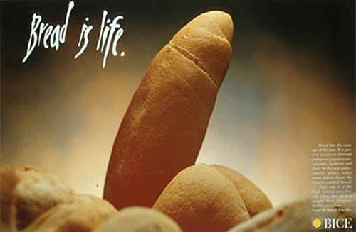 Erotismo publicidad - Anuncio de pan