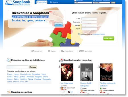 Soopbook - La comunidad de libros sociales