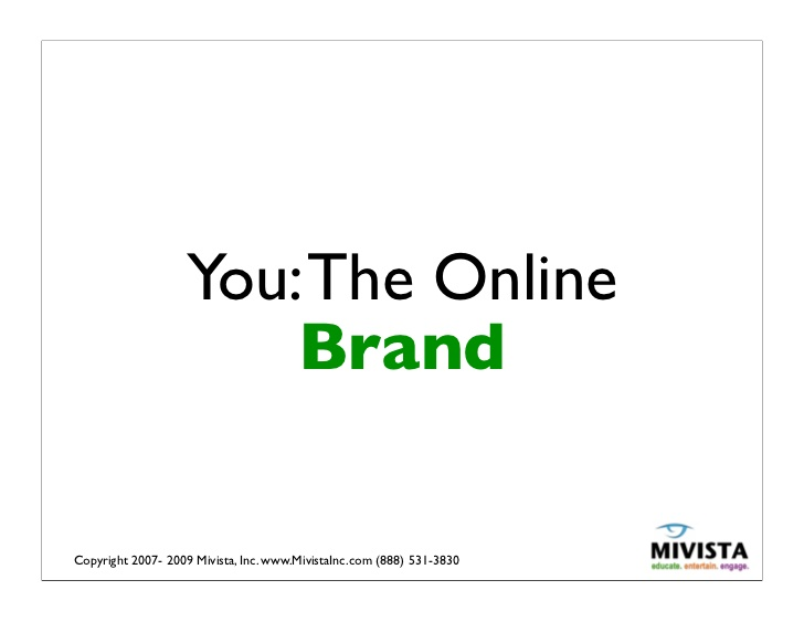 You: The online brand - Marca Personal Digital