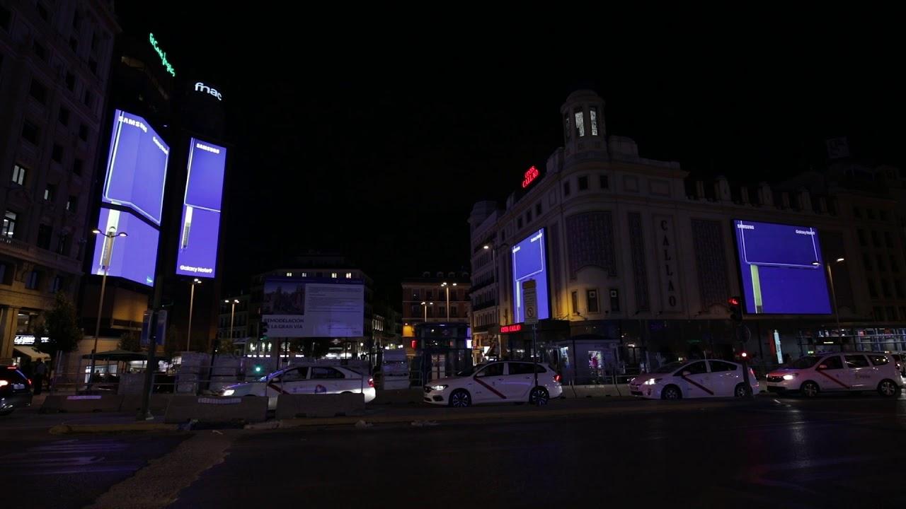 Samsung Galaxy Note 9 -Campaña lanazamiento Apagón Plaza de Callao