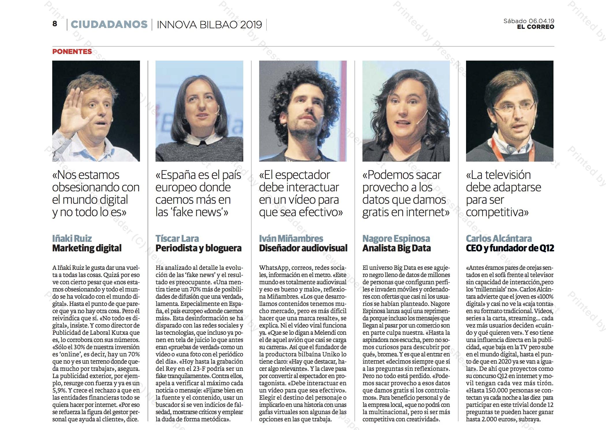 Entrevistas Innova Bilbao 2019